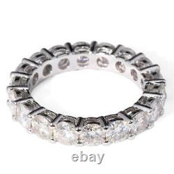 Christmas Gift Certified Round Moissanite 6 Ct Band Women's Ring 925 Silver
