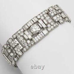 Cocktail Party Solid 925 Sterling Silver Round Baguette Bracelet Jewelry Gift