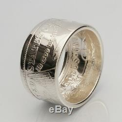 Coin Ring Top Quality 90% Silver Morgan Dollar Date Inside Sizes 7-14