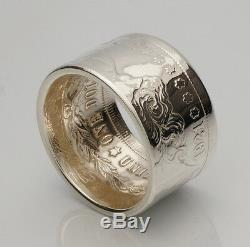 Coin Ring Top Quality 90% Silver Morgan Dollar Date Outside Sizes 7-14