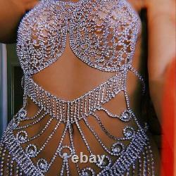 Crystal body Jewelry Body chain Harness bikini set Rhinestone Jewelry Gift For W