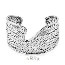Cuff Bangle Bracelet 7.5 925 Sterling Silver Gift Jewelry for Women