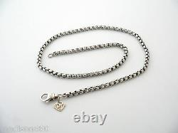 David Yurman Silver 14K Gold Box Link Necklace Chain Pendant Gift Venetian