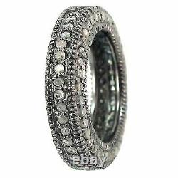 Diamond Pave Setting Band Ring 925 Sterling Silver Fine Jewelry Gift her GG