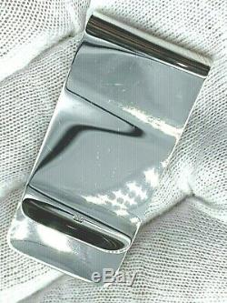 Dunhill JTV8605K 925 Sterling Silver Money Clip D Logo Men's Jewelry Gift