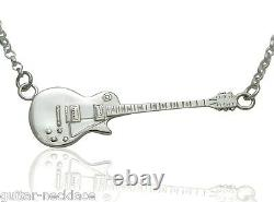Electric Guitar Necklace Guys Music Gifts Him Sterling Silver Music Jewellery