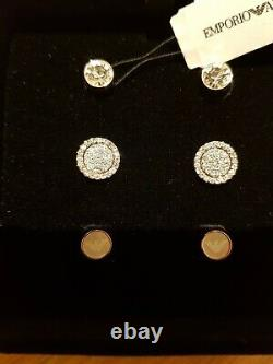 Emporio Armani Ladies Earrings Gift Set EGS2456221 Rose Gold Silver