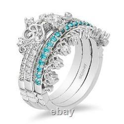 Enchanted Disney Merida Trio Set Ring Gift Engagement Ring 925 Sterling Silver