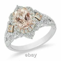 Engagement Disney Aurora 3.7Ct Oval Diamond Scallop Frame 925 Silver Gift Ring