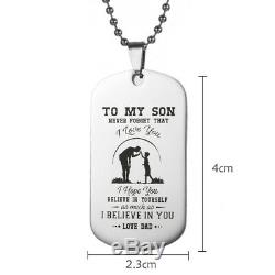 Father Son Pendant To My Son Never Forget That I Love You Dog Tag Necklace Gift