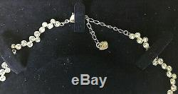Genuine Gorgeous Swarovski Crystal Silver Choker Necklace Original Box Xmas Gift