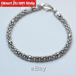 Genuine Lagos 925 Silver Caviar Bracelet Premium Gift for Her 8 inch 254601