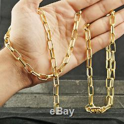 Gold Vermeil 925 Sterling Silver 36 Chain Necklace Fine Jewelry Finding Gifts