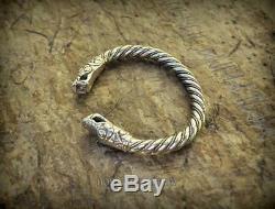 Gotland Bracelet M Size Sterling Silver Viking Arm Ring Nordic Jewelry Yule Gift
