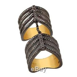 Halloween Day Gift Pave Diamond 925 Sterling Silver Knuckle Ring Ring Jewelry
