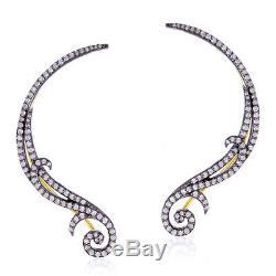Halloween Gift 1.95ct Diamond 18k Gold 925 Sterling Silver Ear Cuffs Jewelry