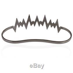 Halloween Gift Designer Palm Bracelet Pave Diamond 925 Sterling Silver Jewelry