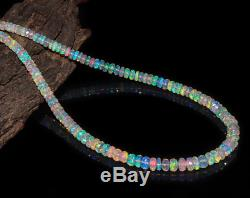 Handmade Jewelry Opal Beaded Necklace Sterling Silver 18 Christmas Gift