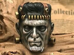 Handmade Original 925 Silver Frankenstein Ring 24K Gold Ring Custome Made Gift