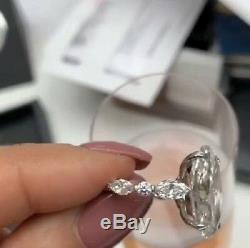 Huge 8 ct White Oval Cut Luxury Engagement Cocktail Ring 925 Silver Gift For Her