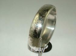 Immaculate 1958 Charles Horner Bangle Solid Sterling Silver Bracelet Hallmarked