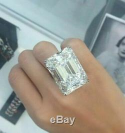 Inspired Ultimate Emerald Cut Gift New 49 Ct Engagement Ring 925 Sterling Silver