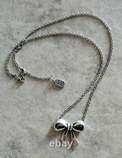 James Avery Bow Pendant Necklace Sterling Silver 925 Jewelry JA Gift 16 18