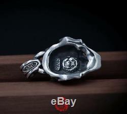 Japan Hannya Pendant Necklace Original Design Men's Gift Jewelry 925 Silver Punk