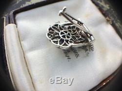 Knoll & Pregizer Antique Art Deco Diamond Paste Silver Dress Clip Drgm Rare Gift