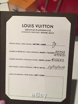 Louis Vuitton Silver Lockit Bracelet Padlock Sterling Silver Full Set Gift Box