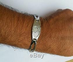 Lovely Silver Plated Punjabi Sikh Singh Khanda Bracelet Metal Unisex Gift