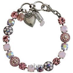 Mariana Silver PINK Rose Swarovski Sparkly Mosaic Crystal Bracelet GORGEOUS GIFT