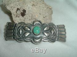 Martha Cayatineto Turquoise Sterling Silver Hair Barrette Southwest in Gift Box
