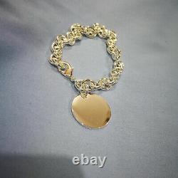Meet Love Tiffany & Co. 521 Love Gift 925 Sterling Silver Round Label Bracelet