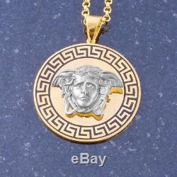 Men Medusa Necklace Silver Medusa Pendant MedallionNecklace For Man Jewelry Gift