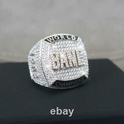 Men's 2.1 CT Round Genuine Moissanite Custom Letter Ring 925 Silver Free Gift