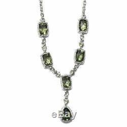Moldavite Necklace 925 Sterling Silver Jewelry Mothers Day Gifts Size 18 Ct 4.8