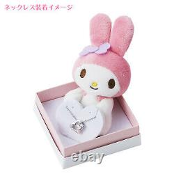 My Melody heart pink gold necklace gift box with plush jewelry valentine girl
