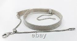 NEW 100% Authentic PANDORA Reflexions 925 silver Mesh Choker Necklace 398252