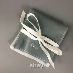 NEW Auth Dior Homme Silver 3D BUMBLE BEE Black Leather Bracelet Cuff Bangle Gift