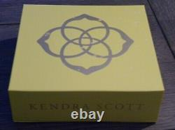 NEW Authentic Kendra Scott Silver Platinum Drusy Earrings and Jewelry Gift Set