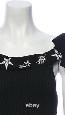 NEW CHANEL CC Logo SWAROVSKI CRYSTAL Brooch Pin STAR Dress Gift Set DUST BAG BOW