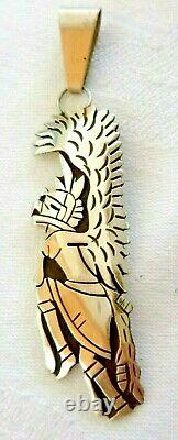 NEW Hopi Frank Lahaleon Hopi Eagle Dancer Pendant Sterling Silver Gift