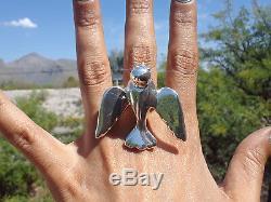 NEW Massive Handmade Big Sterling Silver Bird Ring Boho Native Great Gift