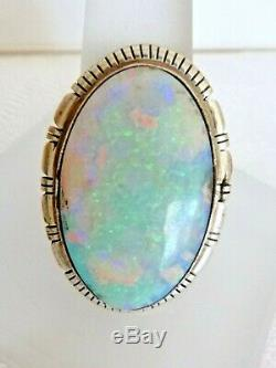 NEW Navajo Scott Skeets Large Opal Ring Sterling Silver Size 9 Gift