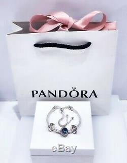 NEW PANDORA 925 Moon & Night Sky Stars Blue Gift Set Slide Bracelet 3 Charms