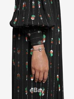 NWT+Gift ReceiptGUCCIG-Cube. 925 Silver Women's Bracelet YBA550888001018 Sz-18