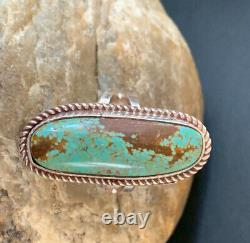 Native Navajo Sterling Silver Turquoise#8 Ring Set 8.5 Gift 320