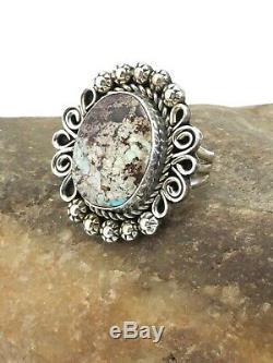Navajo Native American Sterling Silver Dry Creek Turquoise Ring S9 4775 Gift