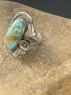 Navajo Native American Sterling Silver Dry Creek Turquoise Ring Sz 9 Gift 289